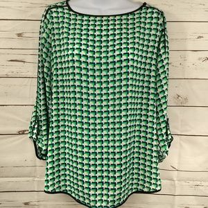 The Limited Womens Geometric Blouse Sz Sm NWOT